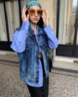 Chemise bleu oversize