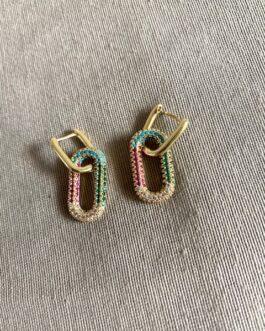 Boucle d'oreille Colorful