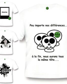 T-shirt blanc Thinking bag