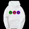 Sweat-shirt blanc bulles barbara