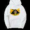 Sweat-shirt blanc barbara jaune