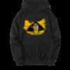 sweat-shirt noir barbara jaune