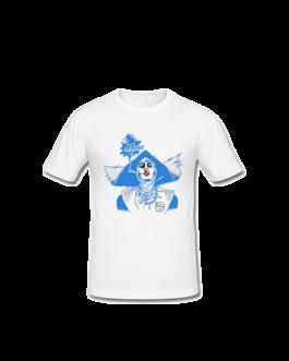Tee-shirt Barbara blanc et bleu