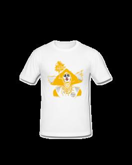 Tee-shirt Barbara blanc et jaune