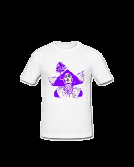 Tee-shirt Barbara blanc et violet