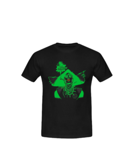 Tee-shirt Barbara noir et vert